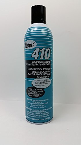 Camie 410 Food Processors Silicone Aerosol - Food Grade Dry Spray - 13 Ounce Net Weight Cans - 12 Cans per Case