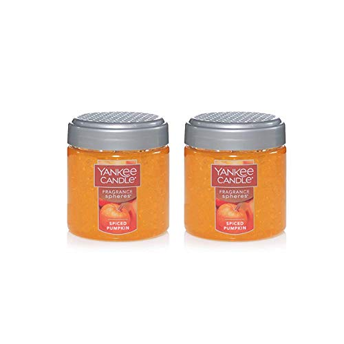 2 Pack of Yankee Candle Spiced Pumpkin Fragrance Spheres Odor Neutralizing Scent Beads