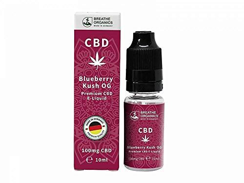 Premium CBD Liquid Blueberry Kush von Breathe Organics® | E Liquid ohne Nikotin mit 300 mg CBD | 100{25ec7990ac77ab1dfe4f325eee7b9a85c6b3c092e4153ff30971b12c860e3092} natürliche Terpene | Cannabidiol Liquid | VGmax Basis