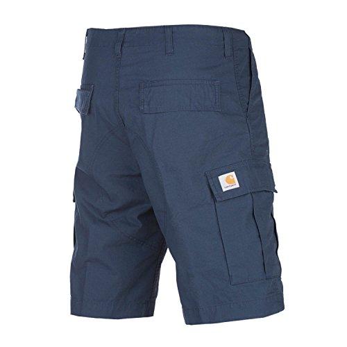 Carhartt WIP Herren Regular Fit Cargo-Logo Shorts, Blau, 33W