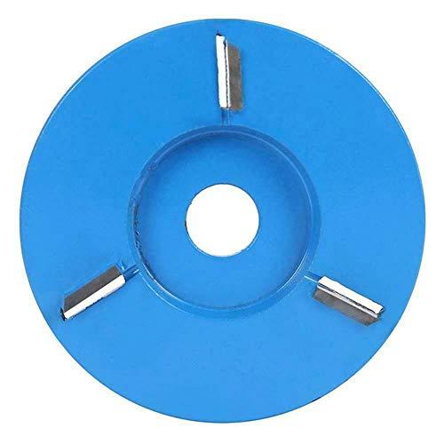 Scucs Disco de tallado de madera, grabado de carpintería de 4 dientes para amoladora de ángulo de apertura de 16 mm