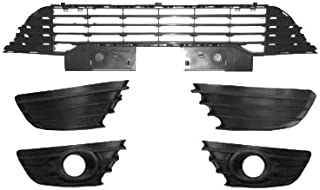 Rejilla de la luz antiniebla del parachoques delantero derecho Recorte Revestimientos de la rejilla de la luz antiniebla del parachoques delantero del coche Negro 7414JT Se adapta a C4 2004-2008