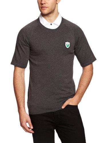 Lyle & Scott Green Eagle T-Shirt en Tricot pour Homme Charcoal Melange XX-Large