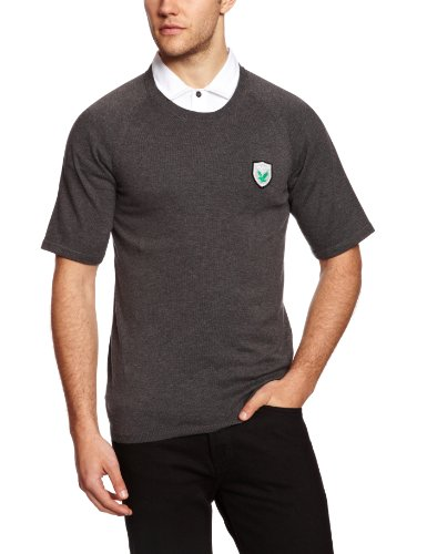 Lyle & Scott Green Eagle T-Shirt en Tricot pour Homme Charcoal Melange XX-Large