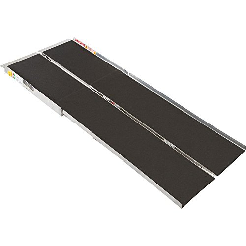 96' Portable Folding Aluminum Wheelchair & Scooter Ramp