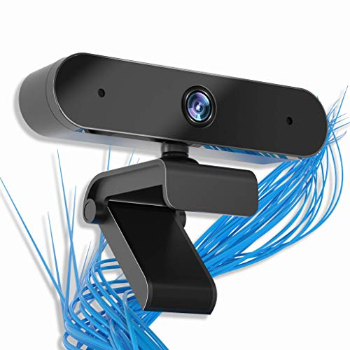 Webcam with Microphone, 【UPGRADED】 1080P HD Web Camera Built-in Dual Microphone, 360° Rotation, 5 Ft Cable USB Camera, Computer HD Streaming Webcam for PC Desktop & Laptop, Video Calling, Conferencing