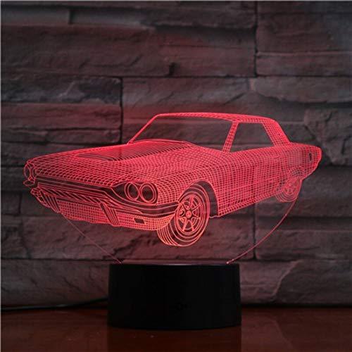 Lámpara de mesa 3D tridimensional multicolor regalo para niños luz nocturna amigos de los niños iluminación USB LED | pequeña lámpara de mesa LED, luz táctil inteligente