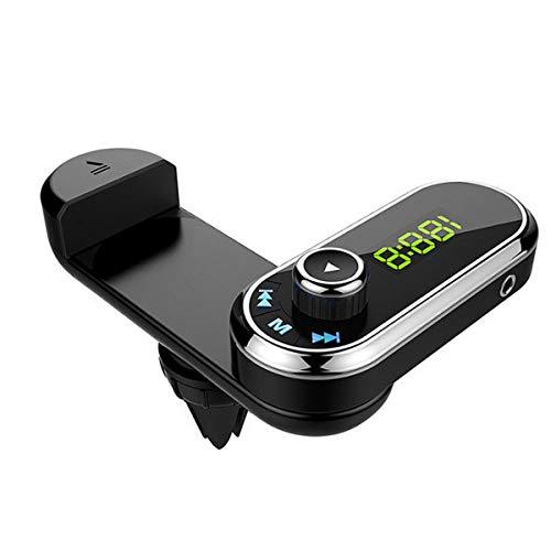 Wallfire Lecteur MP3 avec Chargeur de Voiture USB sans Fil Bluetooth pour transmetteur FM avec Support pour téléphone