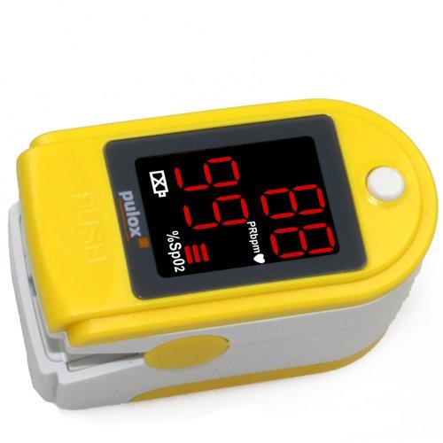 Pulsoximeter PULOX PO-100 Solo in Gelb
