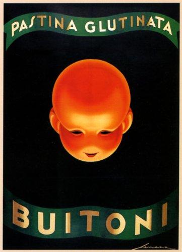 "Pastina Glutinata Buitoni Pasta Spaghetti Italian Food Italy Italia 12"" X 16"" Image Size Vintage Poster Reproduction"