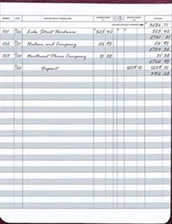 Large Format Check Registers for Deskbook Checks, 6 x 8