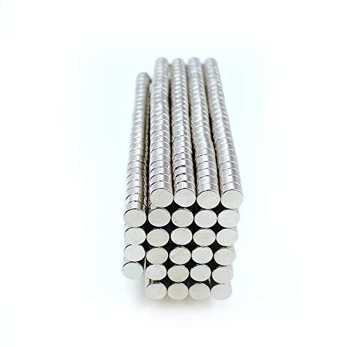 Jasmin FS Industriemagneten, 100Pcs 3mmx2mm Magnetische Materialien Neodym-Magnet Mini Kleine runde Disc