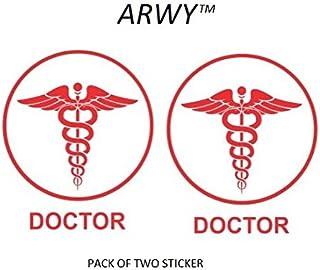 ARWY® car Stickers Doctor Logo car Sticker for Window,Hood,Bumper car Stickers Colour red Size 14.5X15.5 cm