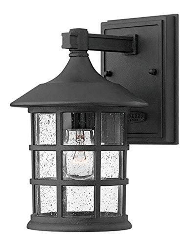 Hinkley 1800BK Traditional One Light Wall Mount from Freeport collection in Black finish, Small
