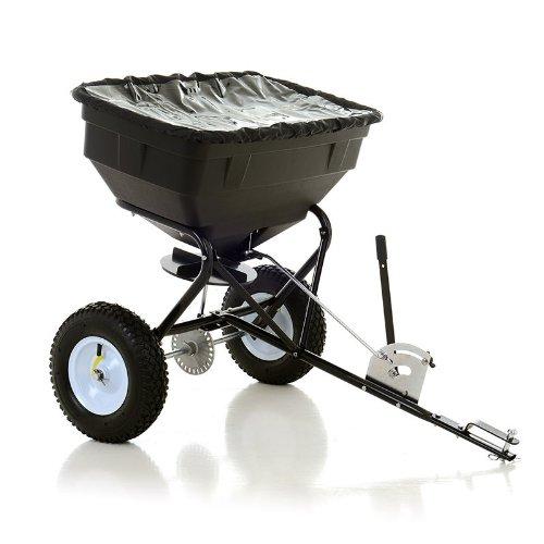 Techniroll International Carro esparcidor de abono, capacidad de 56 kg, con dosificador