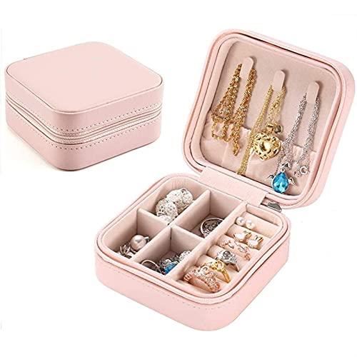 Scellants bocaux Boîte à bijoux portable Boîte de stockage portable Organisateur Boucle d'oreille Zipper Femmes Bijoux Afficher boîtes de voyage Rangement (Size : 10x10x5cm)