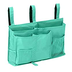 green organizing pocket with 3 loops