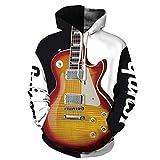 LUOYLYM Guitare Électrique Feuille Feuilles De Marijuana Impression Numérique Amoureux À Manches Longues Chandail À Capuchon Uniforme De Baseball Qyxh103 XXXL