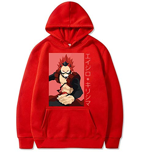 Suéter de Anime My Hero Academia Sudadera Kirishima Hoodies Streetwear para Mujeres/Hombres