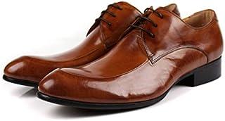 [F.shion] 本革 メンズ ビジネスシューズ プレーントゥ 外羽根 紳士靴 仕事靴