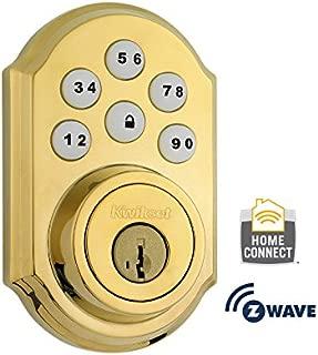 Kwikset 910 Door Lock for U.S., 910TRL ZW L03 SMT (Lifetime Polished Brass), by Kwikset, Cert ID: ZC08-15060007