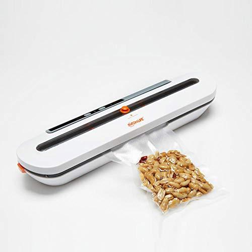 Voedsel Vacuum Sealer Verpakkingsmachine Met 10st Zakken Gratis Vacuüm Voedsel Sluitmachine Vacuum Sealer Packer voor keuken, wit 110V