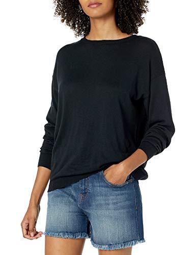 The Drop Women's Corrine Loose Long Sleeve Pullover Crew Neck Sweater
