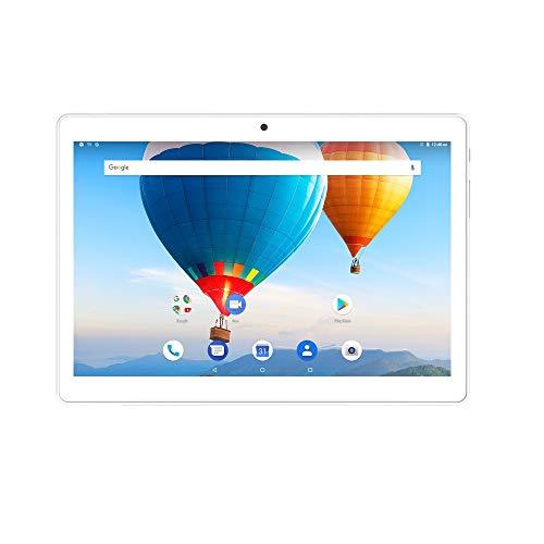 10,1 Zoll Tablet PC 1280x800 IPS 2 GB RAM 32 GB ROM 3G Berufung 2SIM Karte Android 8.1 Oreo WiFi AGPS MTK Quad-Core - Weiß