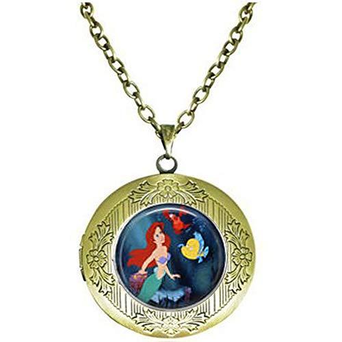 Ariel, Flounder & Sebastian Locket Necklace