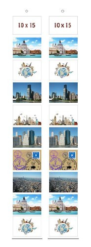 Trendfinding 2 x Foto Bilder Karten Halter Fototasche Fotowand Fotohalter Kartenhalter Querformat 10 x 15 cm