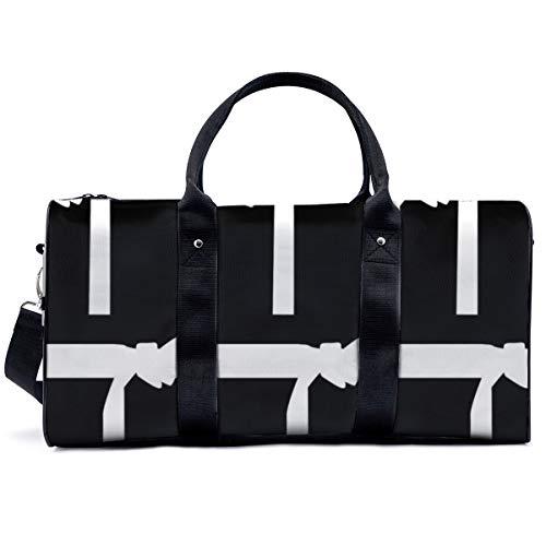 Sporttasche, 7,6 cm, Kampfsport, weißer...