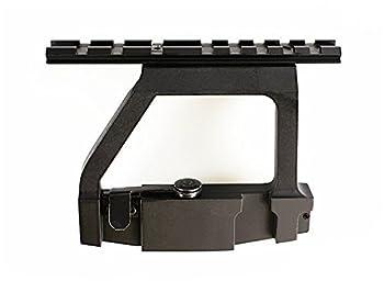 Ultimate Arms Gear Pro  QD  Quick Detach Tactical AK47 AK-47 AK-74 Saiga Rifle / Shotgun 7.62x39 Side Plate Weaver-Picatinny Rail Scope-Sight Mount