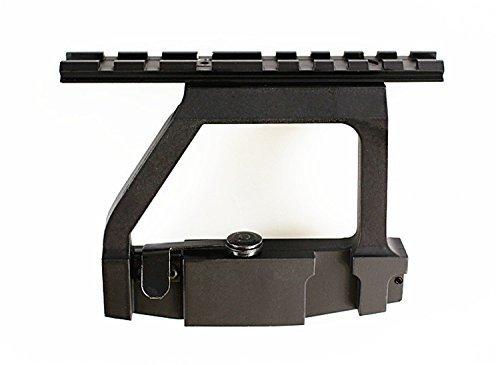 "Ultimate Arms Gear Pro ""QD"" Quick Detach Tactical AK47 AK-47 AK-74 Saiga Rifle / Shotgun 7.62x39 Side Plate Weaver-Picatinny Rail Scope-Sight Mount"