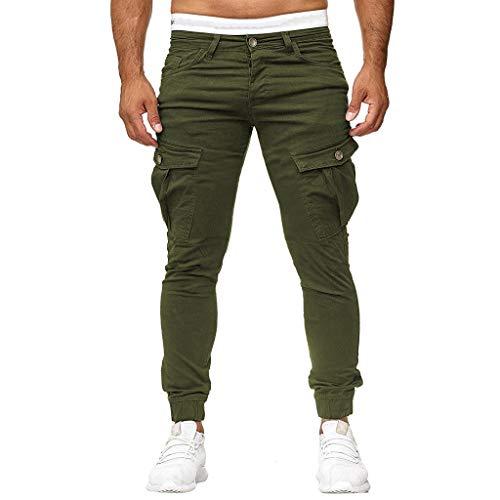 Herren Designer Cargo Hose Lange Slim fit Skinny Einfarbig Einfach Freizeit Chino Hose Arbeithose Rangerhose Arbeithose Riou Günstig