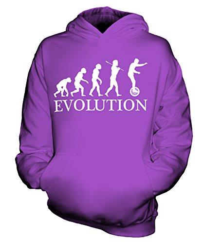 Candymix Einrad Evolution des Menschen Unisex Kinder Jungen/Mädchen Kapuzenpullover, Größe 7-8 Jahre, Farbe Violett