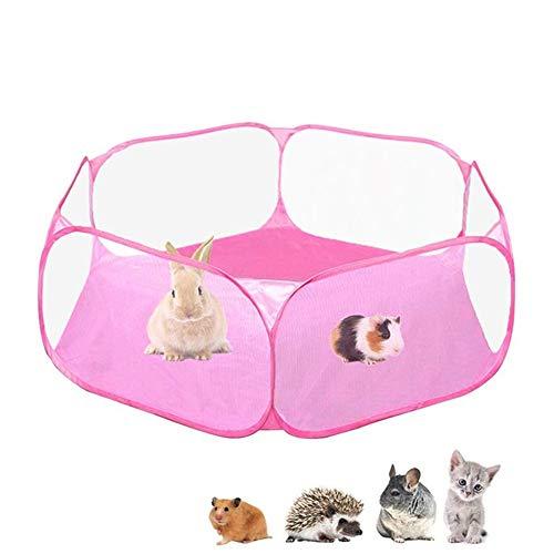 PLUS PO Parc Chiot Parc Chaton Petit Parc des Animaux Portable Chien Stylo Run Rabbit Intérieur Jouer Stylo pour Animaux Chiot Stylos pour L'intérieur Grand Pink