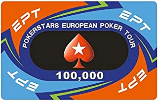 ZAMTAC 30pcs/Set EPT European Poker Chips Set with Value Ceramic Chips Pokerstar Poker Set Tour Handfeel Professional Casino Chips