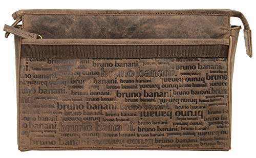 Bruno Banani Trousse de toilette All Over Homme, Femme cuir véritable