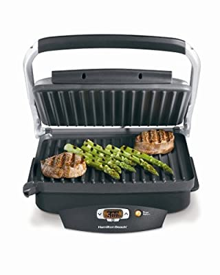 Hamilton Beach Steak Loverâ€s Grill Sear and Cook Non-Stick Countertop Electric Grill