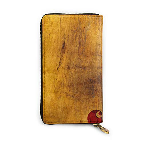 cprhprtt wpllppper Long Leather Wallet Cartera con Cremallera Tarjetero Clutch Purse Coin Pocket Package para Hombre y Mujer