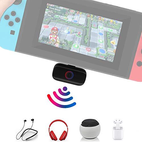 Bluetooth Adapter for Nintendo Switch/Lite Audio Bluetooth Transmitter Receiver Wireless Bluetooth Audio Adapter Headphone Speaker Transmitter