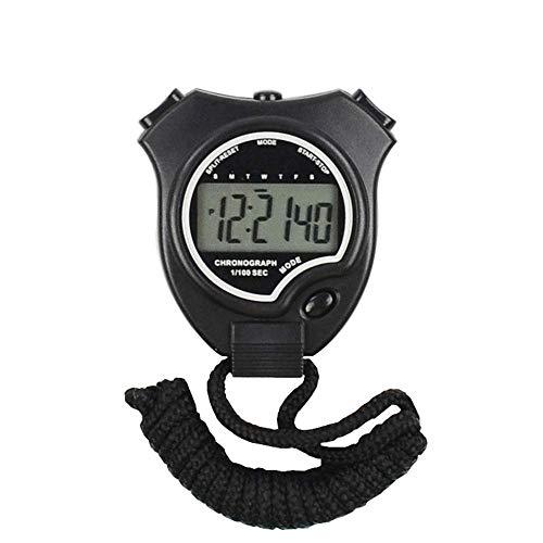 genral Cronometro Impermeabile Giornaliero Cronometro Sportivo Cronometro Digitale Attrezzatura da Allenamento per Allenamento Nuoto Fitness 2 Lap Memory Data e Sveglia Sport all'Aria Aperta