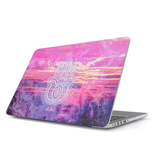 Glitbit Hard Case Cover Compatible with MacBook Pro 13 Inch Case Model: A2159 / A1989 / A1706 / A1708With or Without Touch Bar Hamsa Fatima Mandala Henna Paisley Landscape Mountains Pattern