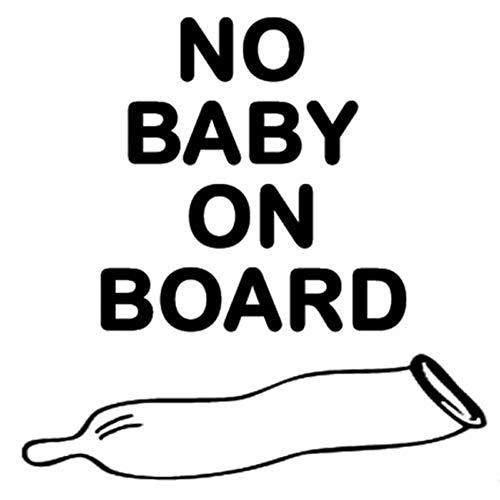 12.7CM * 12.7CM Kein Baby an Bord Gebrauchtes Kondom Lustige Autoaufkleber Zubehör