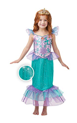 Rubie's Official Disney Princess Ariel Mermaid Glitter and Sparkle Girls Costume, Childs Size Small Age 3-4 Years