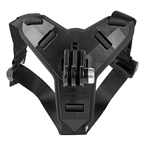OYiRY Casco de la Motocicleta Titular de la Barbilla Cámara Deportiva Cara de Cara Completa Accesorios/Ajuste para GoPro Hero 5/6/7 / FIT For Osmo Action/Fit for Xiaomi (Color : Black)