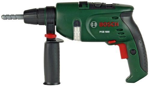Theo Klein 8413 Bosch Bohrmaschine I Batteriebetriebener rotierender Bohrer I Mit Sound-und Lichteffekten I Maße: 28,5 cm x 4,5 cm x 16 cm I Spielzeug für Kinder ab 3 Jahren