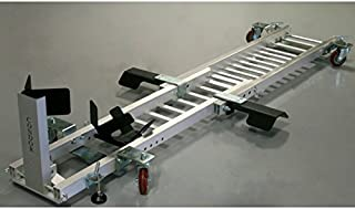 CONDOR Motorcycle Garage Dolly for Wheel Chock/Trailer Stand with Height Assist Footrests