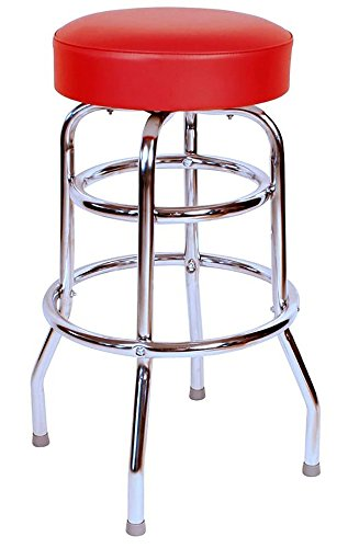 Commercial Grade Red 30 Inch Restaurant Swivel Bar Stool (0-1952RED)