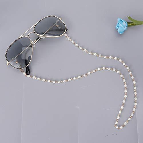 Cadena para gafas de sol con cuentas de perlas de imitación, cadena para anteojos, para mujeres, novias, amigas